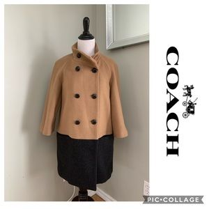 Coach Wool Oversized Pee Coat Trench Wool Jacket